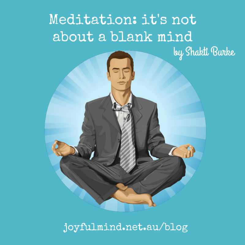blank mind in meditation